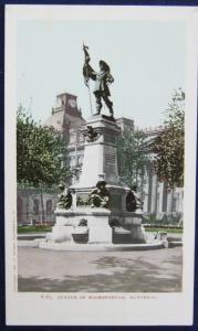 Statue Of Maisonneuve Montreal Detroit Photographic 1901