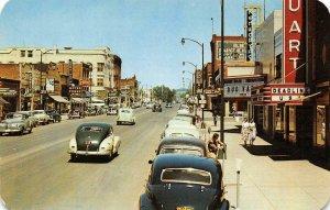 MOSCOW, ID Street Scene Idaho Theater, Hotels c1950s Vintage Postcard