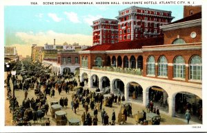 New Jersey Atlantic City Boardwalk Haddon Hall and Chalfonte Hotels Curteich