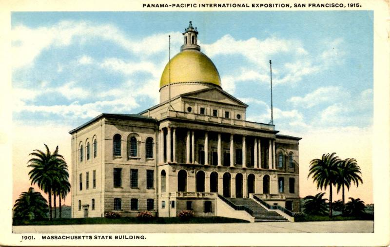 CA - San Francisco. 1915 Pan Pacific Int'l Exposition, Massachusetts State Bldg