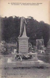 BLERANCOURT, apres la Guerre 1914-1918 Au Cimetiere - Le Monument Commemorati...