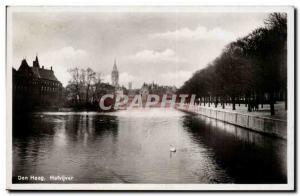 Old Postcard Netherlands Den Haag Hofvijver