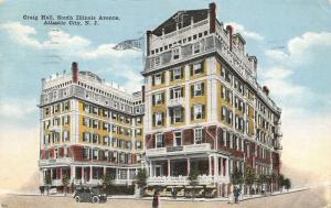 Atlantic City New Jersey~Craig Hall Hotel Vignette~South Illinois Avenue~1914 PC