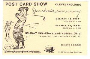 Western Reserve Postcard Society Show 1984, Cleveland, Ohio, Deltiology, Golfer