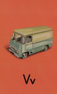 V Is For Van Toy Model Classic Ladybird Old Childrens Book Postcard