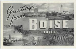 W/B Greetings from Boise Idaho ID