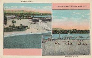 WINONA , Minnesota , 1910-30s ; Latsch Island Tourist Camp & Amusement Ctr