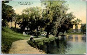 Cleveland, Ohio Postcard Lake at Wade Park People Scene 1912 Cancel