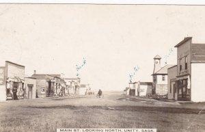 RP: UNITY , Saskatchewan , Canada , PU-1914 ,  Main Street (dirt) ,