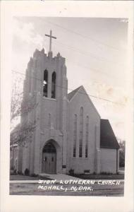 North Dakota Mahall Zion Lutheran Church Real Photo RPPC