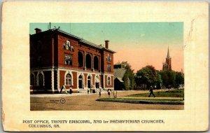 1910s Columbus, Georgia Postcard Trinity Episcopal & Presbyterian Churches