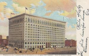 PHILADELPHIA, Pennsylvania, 1908; Proposed New Wanamaker Store