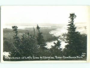 old rppc NICE VIEW Glen Haven Arbor - Near Traverse City Michigan MI i6604