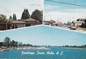 DELTA, British Columbia, Canada, PU-1984; 3-Views, Greetings, Pioneer Library...