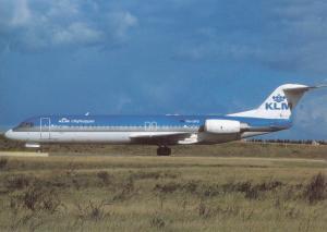 KLM CITY HOPPER, Fokker 100, unused Postcard