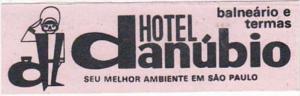 BRASIL SAO PAULO HOTEL DANUBIO VINTAGE LUGGAGE LABEL