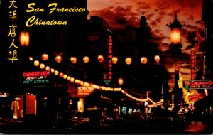 California San Francisco Chinatown At Night