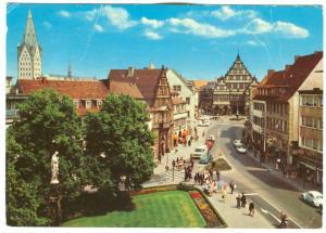 Germany, PADERBORN, Innenstadt mit Rathaus und Dom, 1977 used Postcard
