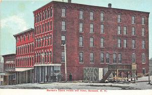 Suncook NH Bartlett's Opera House and Hotel Postcard