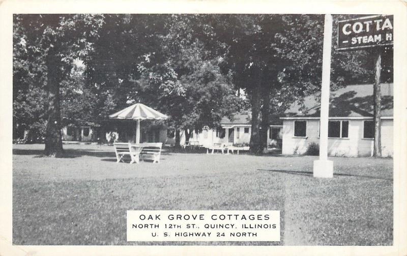 Quincy Illinois~Oak Grove Cottages~North 12th Street~Patio Lawn Table~Bu0026W
