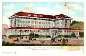 Early 1900s Hotel La Reine by the Sea, Bradley Beach, NJ Postcard