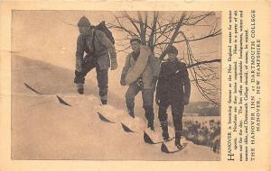 Hanover NH Snow Shoeing Inn at Dartmouth College Postcard