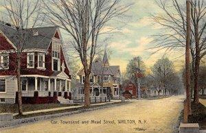 Walton New York Townsend and Mead Street Vintage Postcard AA30359