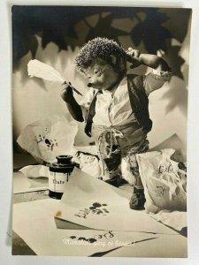 Mecki Hedgehog 1960s Diehl Film Germany Hedgehog with Fountain Pen