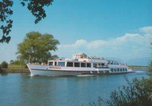MS Petersinsel Paddle Steamer Ship Postcard