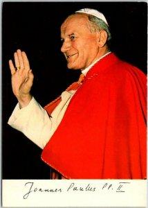 Vintage 1979 POPE JOHN PAUL II Postcard w/ Cancel & 2 Poste Vaticane Stamps