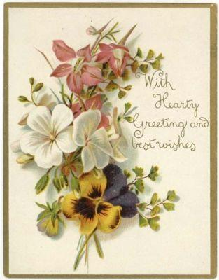 Vintage Greeting Card, LOVELY BOUQUET OF FLOWERS