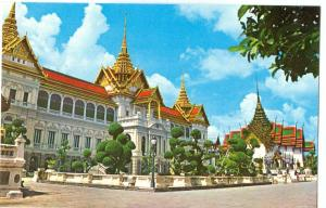 Thailand, The Royal Palace, Chakri, Dusit Maha Prasadh Throne Hall, Bangkok