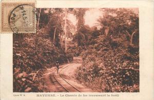 Belgian Congo MAYUMBE railroad - Le Chemin de fertraversand la foret TCV stamp