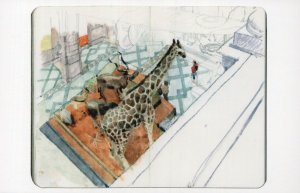 Giraffe Kelvingrove Scottish Museum Glasgow Scottish Painting Postcard