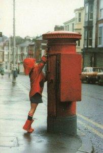 Rare Limited Edition Postcard, Posting Letters, Victorian Pillar Box KM7