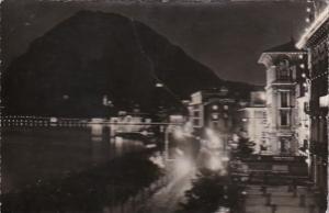Switzerland Lugano e Monte San Salvatore At Night