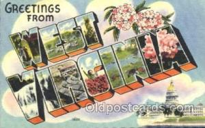 West Virginia, USA Large Letter State States Postcard Postcards  West Virgini...