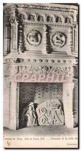 Old Postcard Chateau de Blois Louis XII wing of Chimney Guard Room