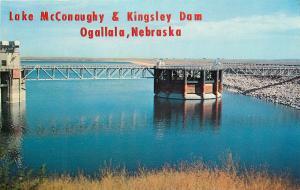 Lake McConaughy Kingsley Dam Ogallala Nebraska NE Postcard