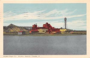 DRYDEN ONTARIO CANADA DRYDEN PAPER COMPANY~WATER VIEW POSTCARD 1955