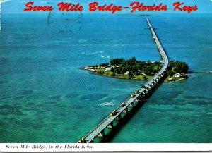 Florida Keys Seven Mile Bridge Over Pigeon Key 1975