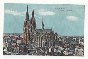 Germany Koln Cologne Coln Cathedral Dom mit Umgebung Vintage c 1910  Postcard