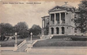 A72/ Oakland Maryland Md Postcard 1946 Garrett County Court House Building 2