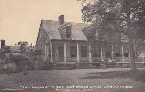 Mississippi Natchez The Briers Where Jefferson Davis Was Married Albertype