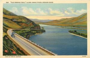 ID, Idaho, Oregon, Snake River, Old Oregon Trail, C.T. Art No. 7A-H71