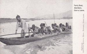ABERDEEN, Sierra Leone; Africa, 10-20s; Ferry Boat