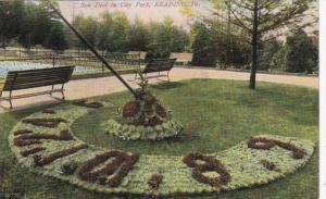 Pennsylvania Reading Sun Dial In City Park