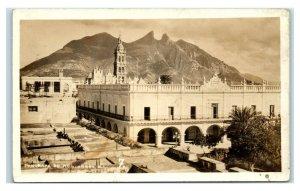 Postcard Panorama de Monterrey, Mexico 1932 (discoloring) RPPC Y62
