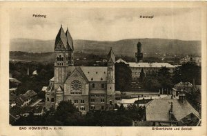 CPA AK Bad Homburg Erloserkirche u Schloss GERMANY (931771)