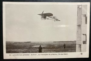 Mint France RPPC Real Picture Postcard Early Aviation Bleriot Monoplane Reims